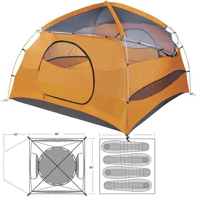 Marmot Halo 4 Person Expedition Style Family Tent