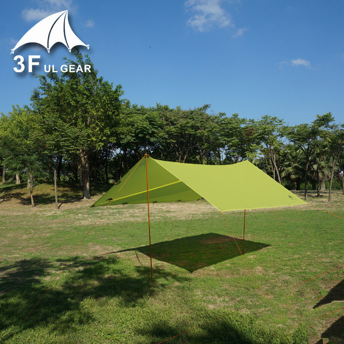 3F UL Gear Ultralight Mini Silnylon waterproof backpacking tarp 230 grams