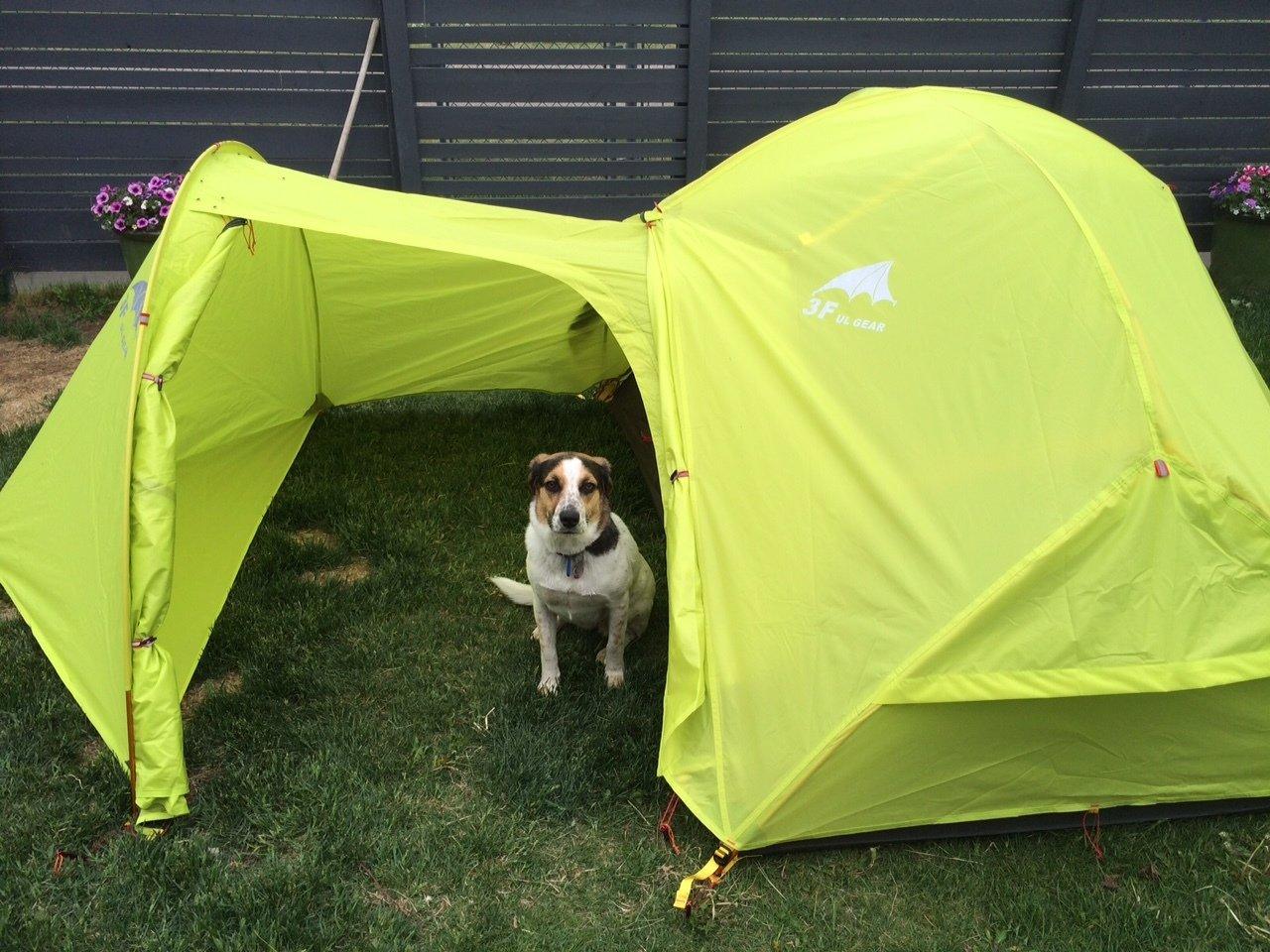 3F UL Gear 2 person, 4 Season 210T Backpacking Tent w/ Gear Shed & Footprint