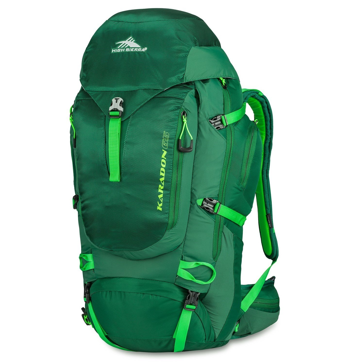 High Sierra Karadon 65L Backpack - Adjustable Fit - Small/Medium Torso