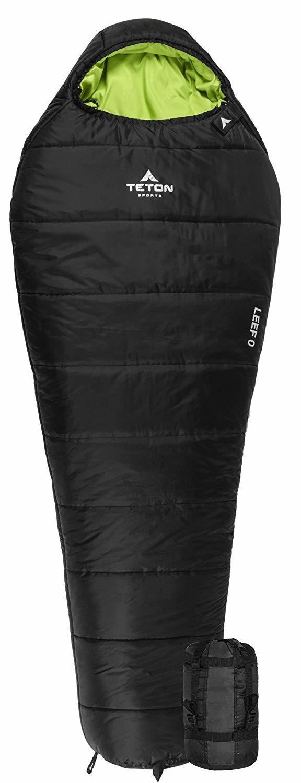 "Teton LEEF -18C Short (Youth/Women) Sleeping Bag, fits up to 5 ft 6"""