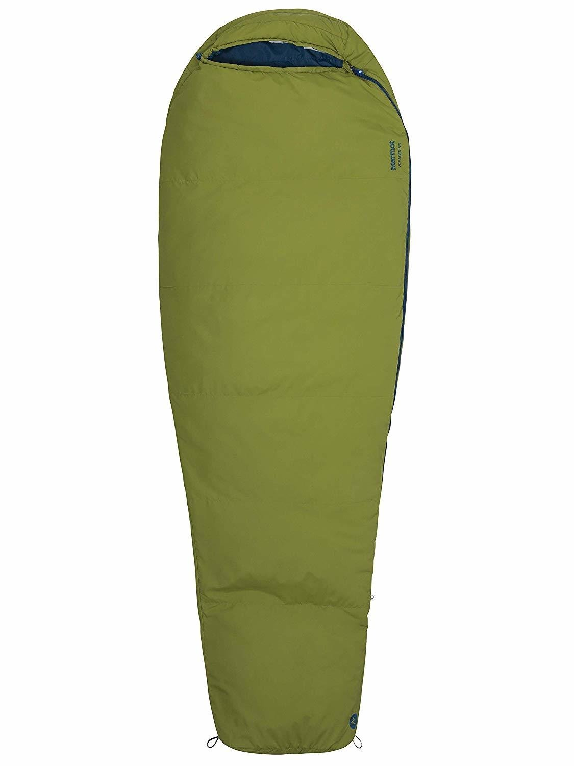 Marmot Voyager 55F (17C) Mummy Sleeping Bag, Sleeping Bag Liner - fits up to 6 ft 6""