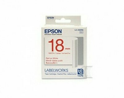 Epson Label & Tape LC-5WRN - 18mm Red on White Tape