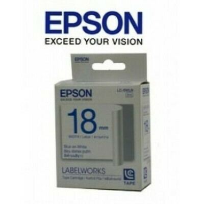 Epson Label & Tape LC-5WLN - 18mm Blue on White Tape