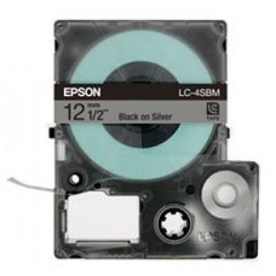 Epson Label & Tape LC-4WBN - 12mm Black on White Tape