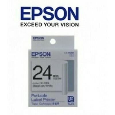 Epson Label & Tape LC-6BWV - 24mm White on Black Tape