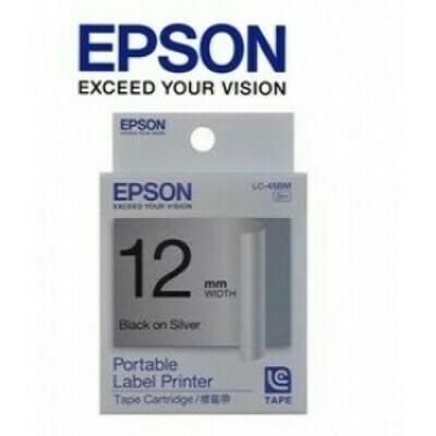 Epson Label & Tape LC-4SBM - 12mm Black on Silver Tape