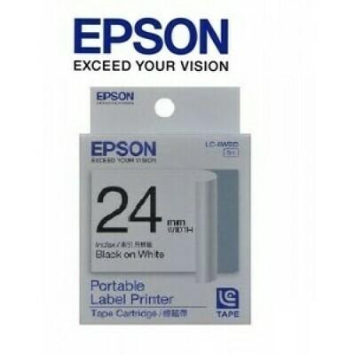 Epson Label & Tape LC-6WBD - 24mm Black on White Tape
