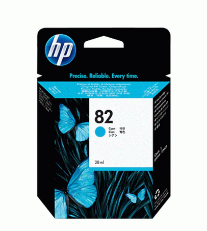 HP Cyan Ink Cartridge 82 [C4911AA]
