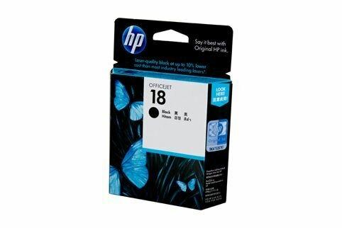 HP Black Ink Cartridge 18 [C4936A]