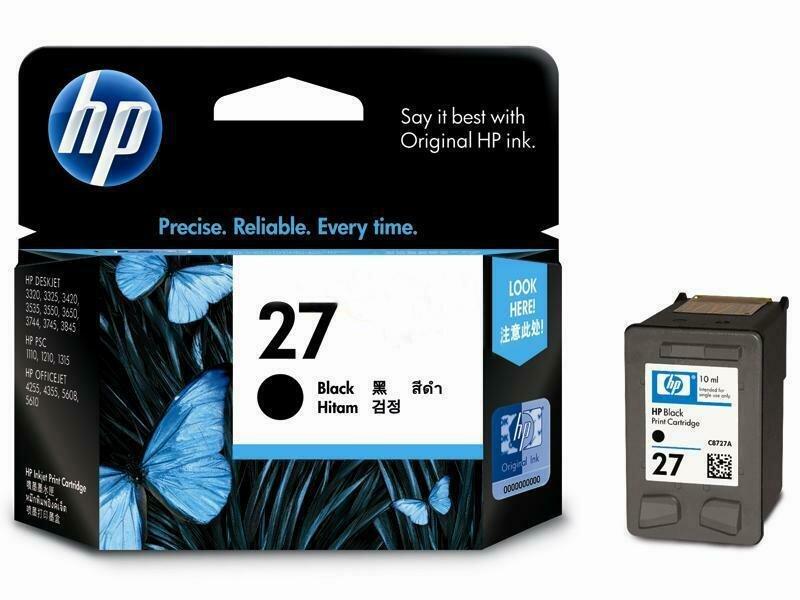 HP Black Ink Cartridge 27 [C8727AA]