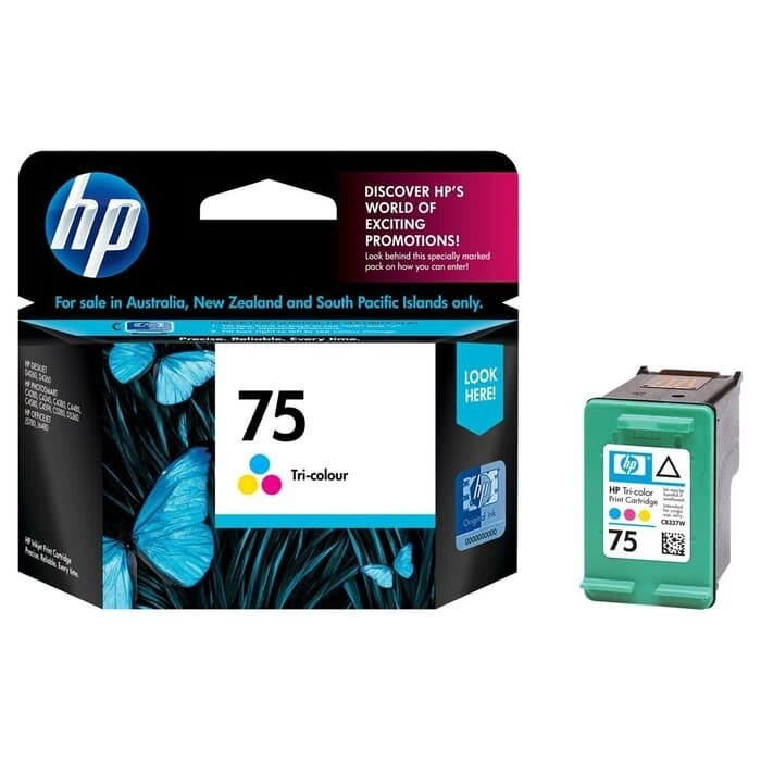 HP Tri-Color Ink Cartridge 75 [CB337WA]