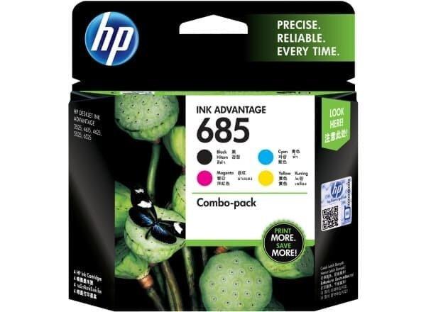 HP CMYK Ink Cartridge Combo 4-Pack 685 [F6V35AA]