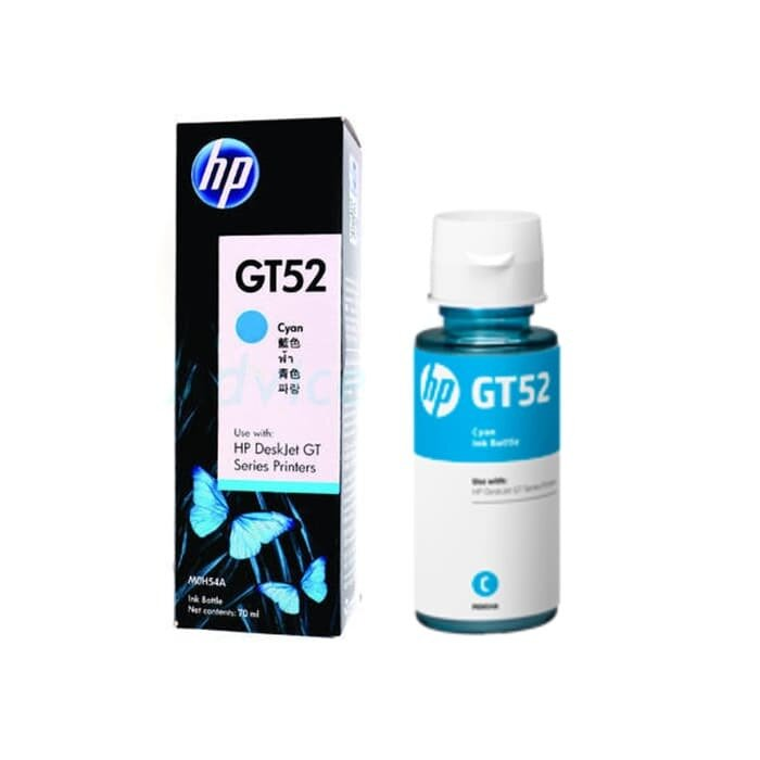 HP Cyan Original Ink Bottle GT52 [M0H54AA]