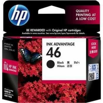 HP Black Ink Cartridge 46 [CZ637AA]