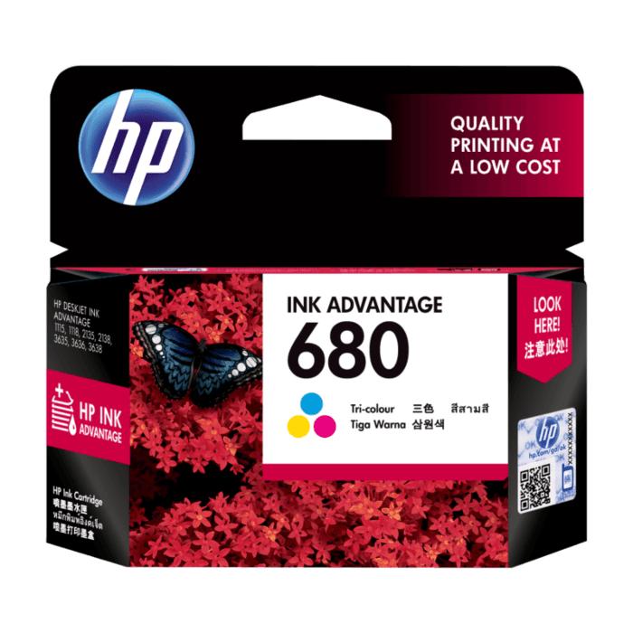 HP Tri-color Ink Cartridge 680 [F6V26AA]