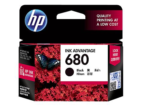 HP Black Ink Cartridge 680 [F6V27AA]