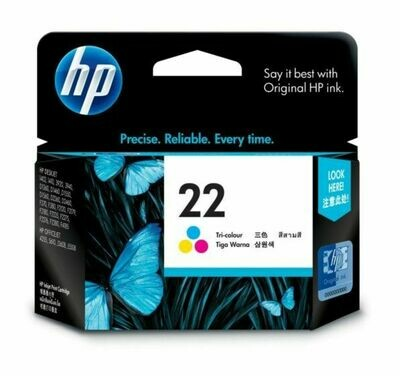 HP TrI-Color Ink Cartridge 22 [C9352AA]