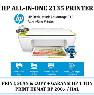 HP Printer DeskJet 2135 All-in-One Printer, Ink Advantage