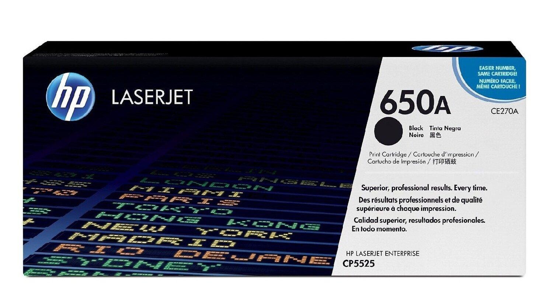 HP 650A Black Toner Cartridge [CE270A]
