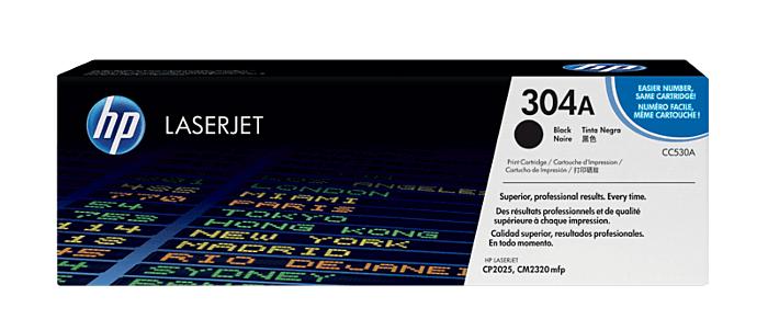 HP 304A Black Toner Cartridge [CC530A]