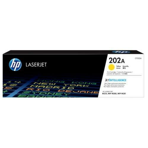 HP 202A Yellow LaserJet Toner Cartridge [CF502A]