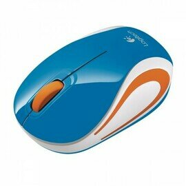 Logitech M 187 Wireless Mini Mouse - Blue