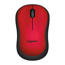 Logitech M 221 Silent Wireless Mouse - Red