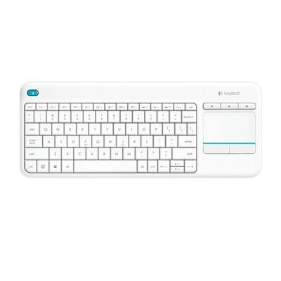 Logitech K 400 Plus Wireless Touch Keyboard - White
