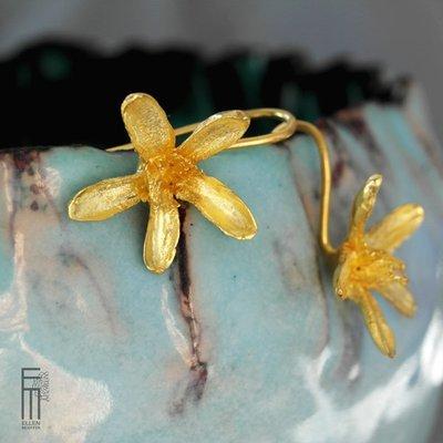 AZAHAR - Ohrringe als Orangenblüte - pendientes de flor naranjo