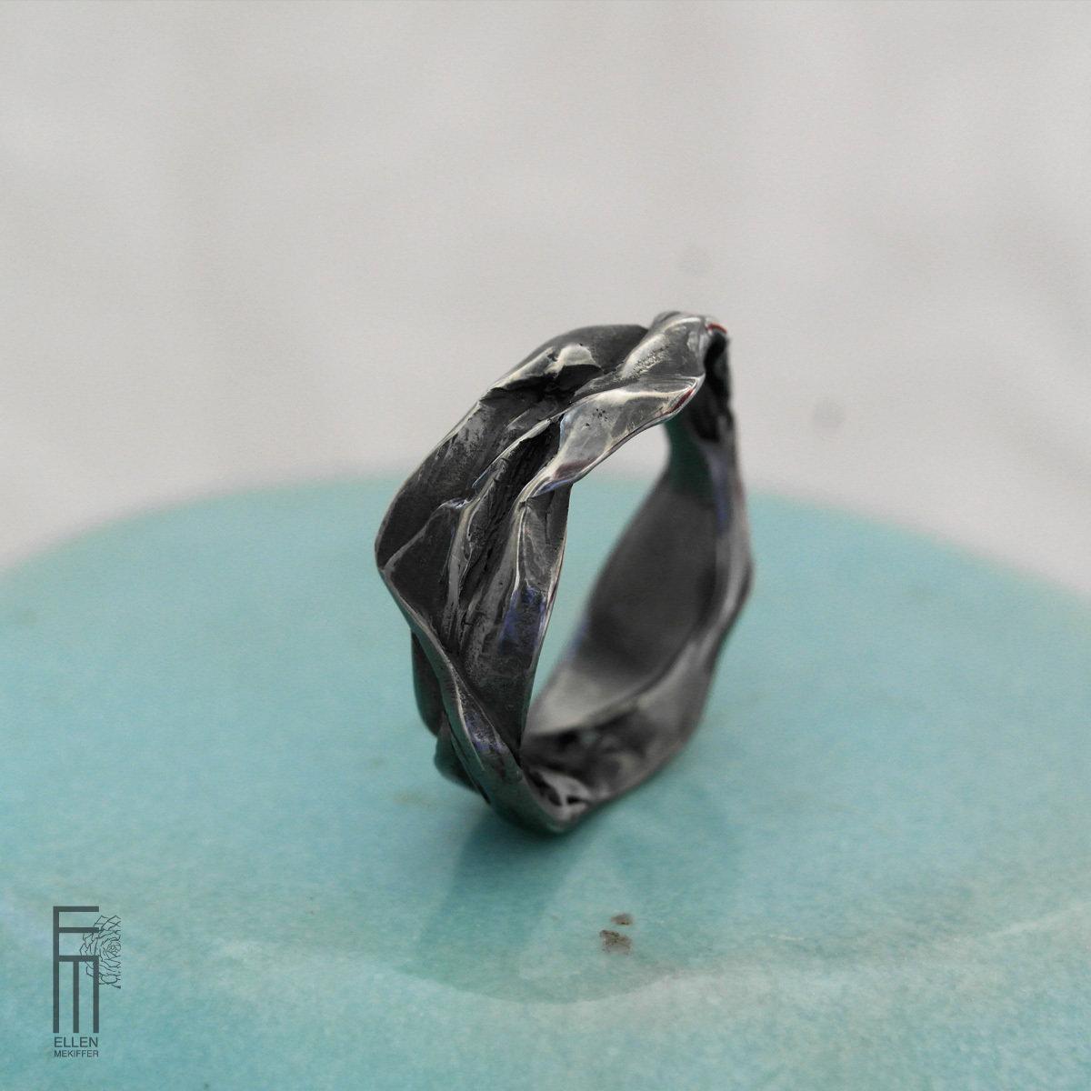 PALMERA - Strukturring aus Silber - anillo de plata con estructura
