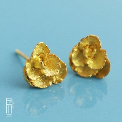 FLORAL - vergoldete Silberohrringe - pendientes con baño de oro