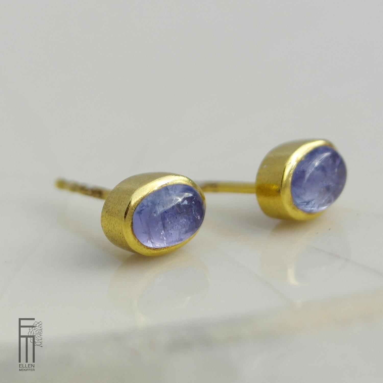 TANZANITA – Ohrstecker mit blauen Tansanit - pendientes con tanzanita azul pendientes tanzanita azul