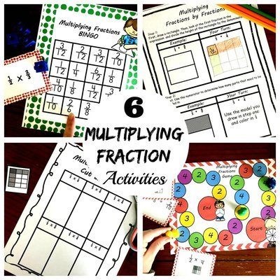 photo regarding Printable Fraction Games known as 6 Multiplying Fractions via Fractions Actions