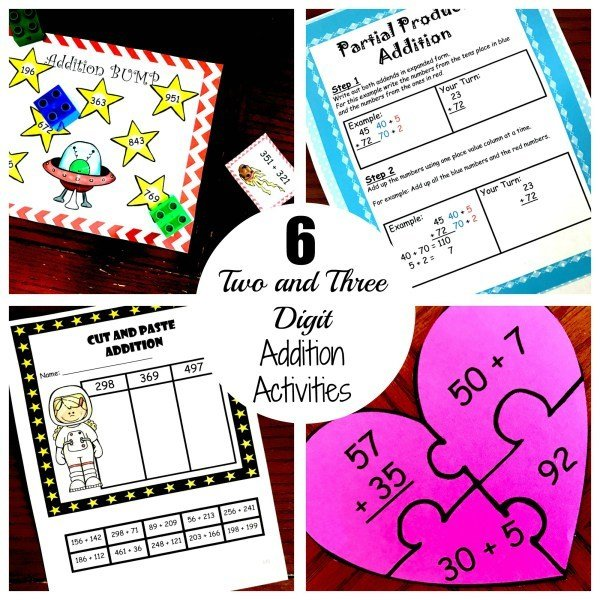 Six Two and Three Digit Addition Practice