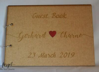 Names Guest Book  - A4 Guest Book
