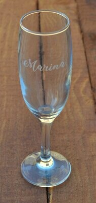 Engraved Champagne Glasses - Just a Name