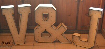 Marquee Letters with Lights 60cm