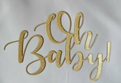 Glitter and Perspex Cake Topper