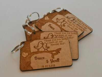 Love Birds Keyring