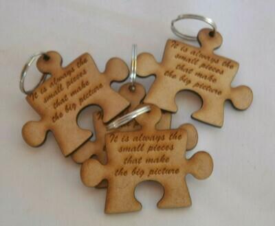 Puzzle Piece Keyring