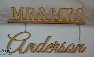Hanging Mr & Mrs