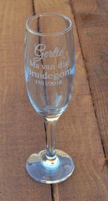 Engraved Champagne Glasses - Name, Title and Date