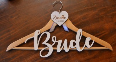 Hanger with Heart and Word