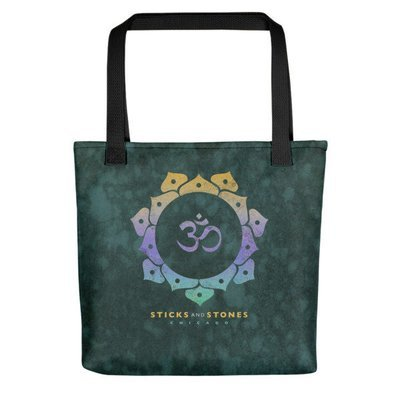 Sticks and Stones TEAL Tote Bag