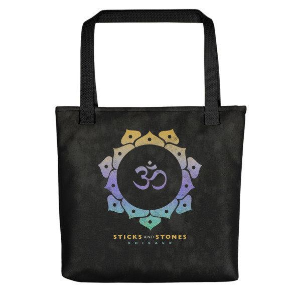 FUNDRAISER Sticks and Stones CHARCOAL Tote Bag