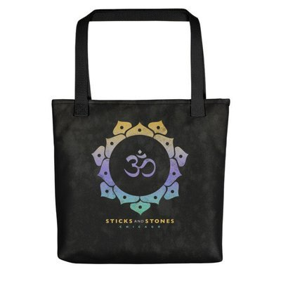 Sticks and Stones CHARCOAL Tote Bag