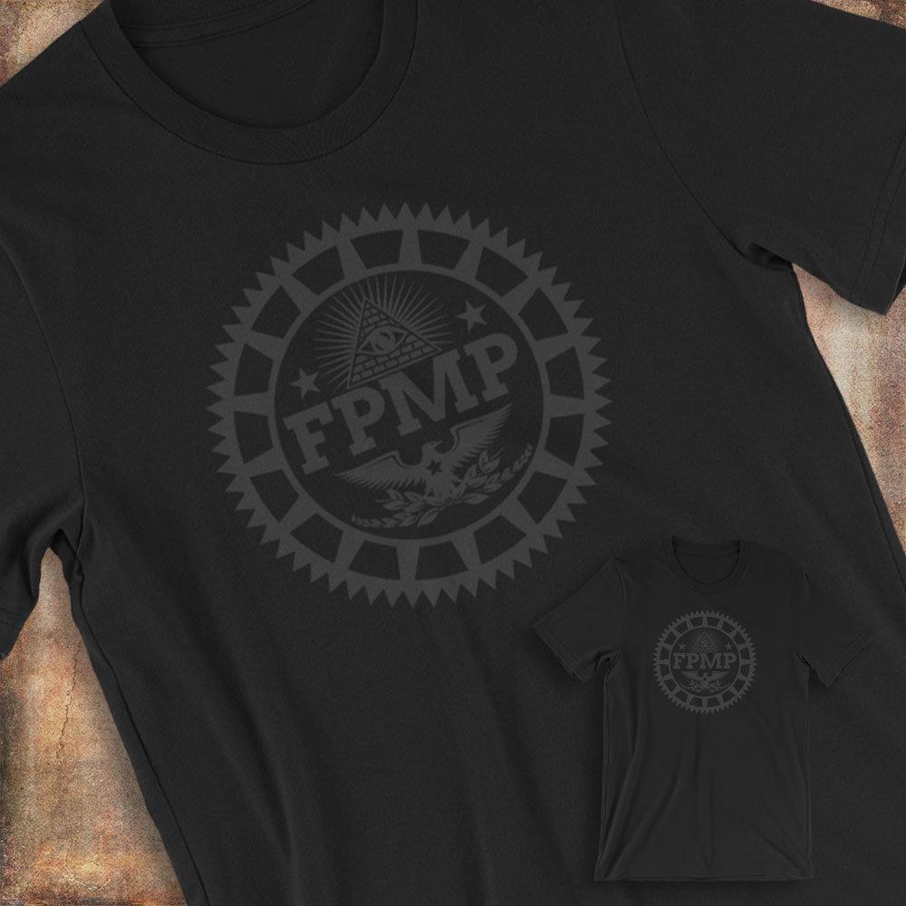 FUNDRAISER Black on Black FPMP Short-Sleeve Unisex T-Shirt