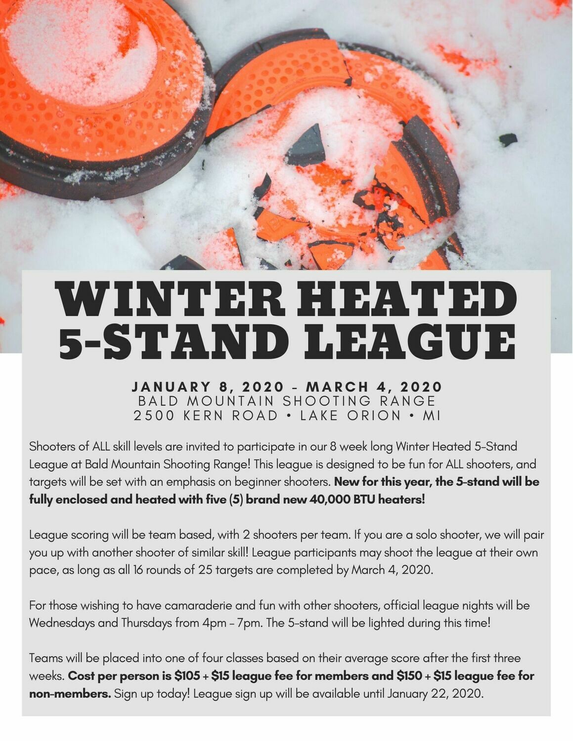 2020 Winter Heated 5-Stand League