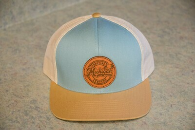 Pacific Leather Logo Snapback Hat - Blue